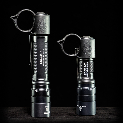 SwitchBack S Backup Flashlight Rings mounted on EDCL1-T and EDCL2-T lights