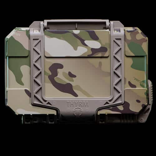 Multicam DarkVault is hydrodipped on a Flat Dark Earth body