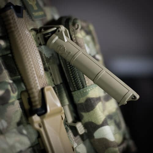 The CellVault Battery Storage can mount to MOLLE