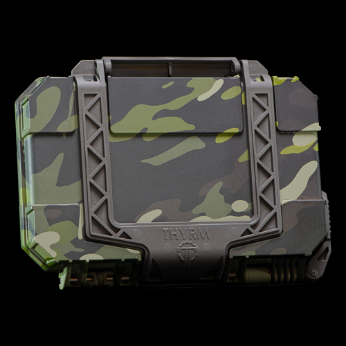 Multicam Tropic Hydrodipped DarkVault Case is made on an Olive Drab foundation