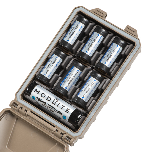 Six 18350 plus one 18650 Modlite Batteries configured in CellVault-5M