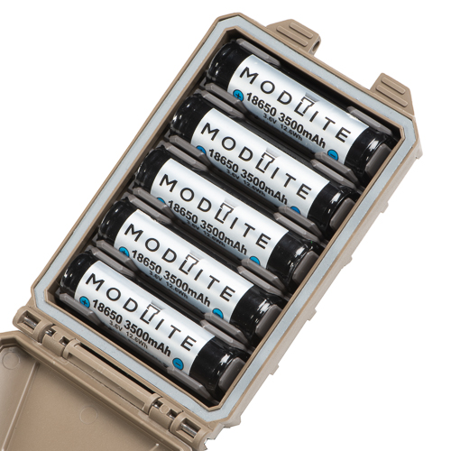 Five 18650 Modlite Batteries configured in a CellVault-5M