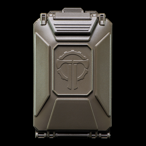 The CellVault-5M Modular Battery Storage features a large Thyrm logo