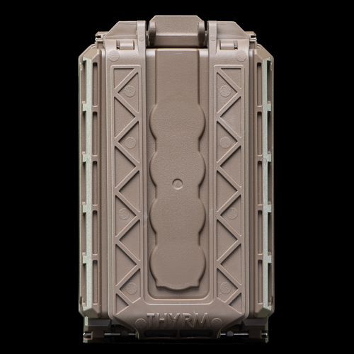 The back for the CellVault-5M Modular Battery Storage features removable mounting brackets