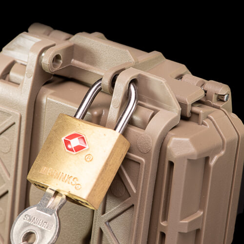 TSA locks can be used to secure the CellVault-5M Modular Battery Storage