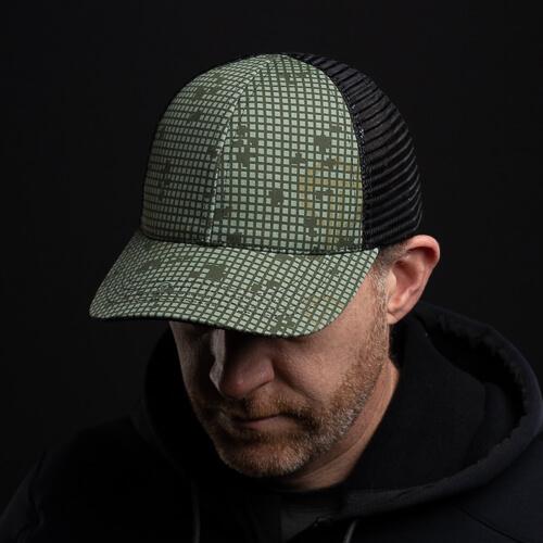DNC Hat on redhead model